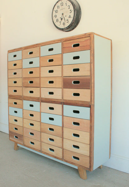 Beautifully Hand Crafted 40 drawer Sideboard / Cabinet - TheRetroStation  - 1
