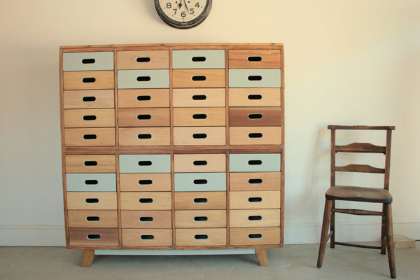 Beautifully Hand Crafted 40 drawer Sideboard / Cabinet - TheRetroStation  - 3