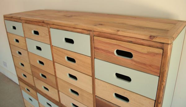 Beautifully Hand Crafted 40 drawer Sideboard / Cabinet - TheRetroStation  - 4