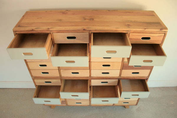 Beautifully Hand Crafted 40 drawer Sideboard / Cabinet - TheRetroStation  - 5