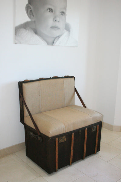 "The ""Trunkie chair"" an Upcycled Steamer Trunk alternative, hand crafted seating with bespoke designs - TheRetroStation  - 3"