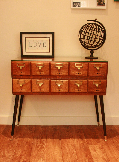 Vintage Oak Libary Drawers