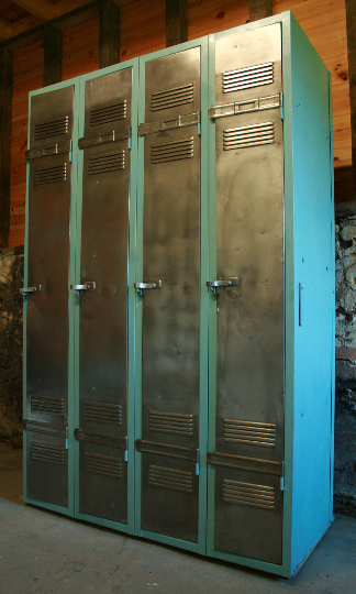 Vintage Industrial 4 Door Locker - TheRetroStation  - 6