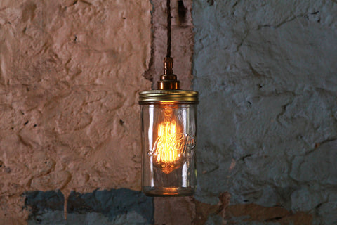 Jam Jar Pendant Light - TheRetroStation  - 1