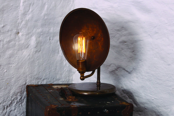 Cullen Industrial Dish Table Lamp - TheRetroStation  - 1
