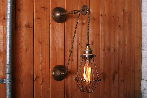 Apoch Pulley Cage Wall Light - TheRetroStation  - 6