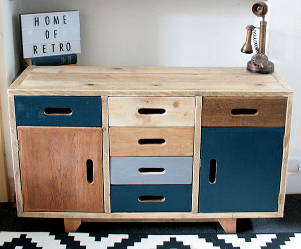 Hand crafted multi cabinet for multi use, mixed woods, storage solution - TheRetroStation  - 4