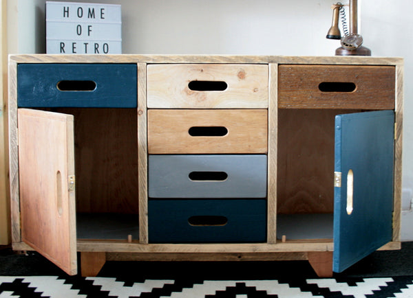 Hand crafted multi cabinet for multi use, mixed woods, storage solution - TheRetroStation  - 2