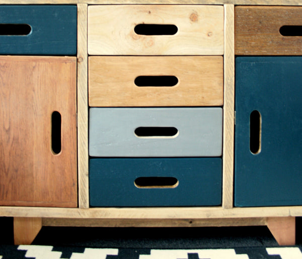 Hand crafted multi cabinet for multi use, mixed woods, storage solution - TheRetroStation  - 3