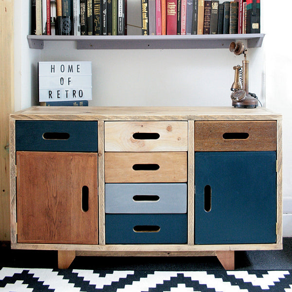 Hand crafted multi cabinet for multi use, mixed woods, storage solution - TheRetroStation  - 1