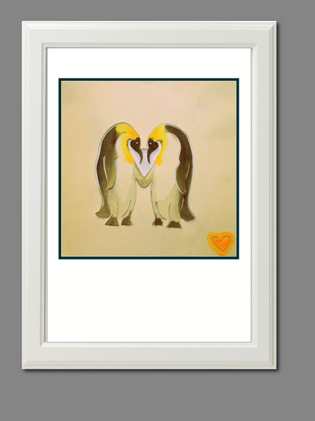 """Love you like a penguin"" print - TheRetroStation"