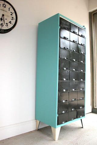 1950's pigeon holes, redesigned as shoe storage or Wine/ cup rack - TheRetroStation  - 1