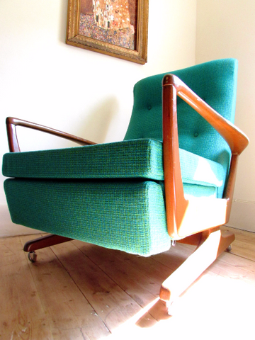 Mid Century Recliner Armchair - TheRetroStation  - 1