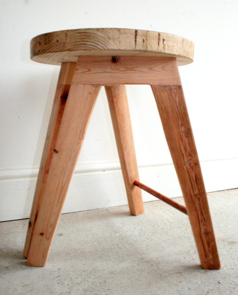 The Caboose Stool - Hand crafted tripod design with reclaimed wood and copper pipe detailing - TheRetroStation  - 9