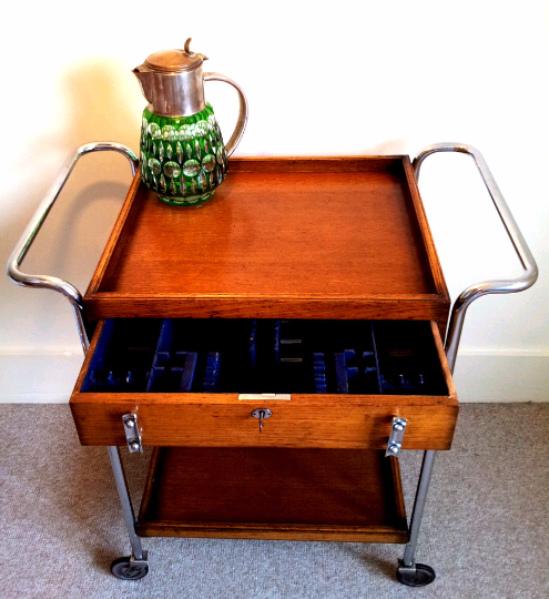 Art Deco Serving Trolly  Sideboard  Storage - TheRetroStation  - 2