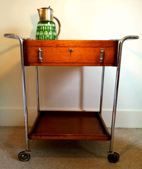 Art Deco Serving Trolly  Sideboard  Storage - TheRetroStation  - 1