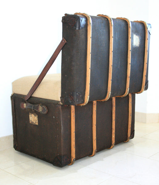 "The ""Trunkie chair"" an Upcycled Steamer Trunk alternative, hand crafted seating with bespoke designs - TheRetroStation  - 2"