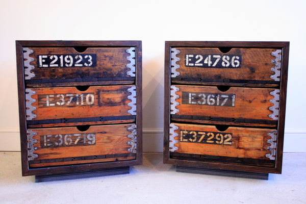 Beautifully aged vintage industrial 3 drawer cabinet built using reclaimed materials - TheRetroStation  - 2