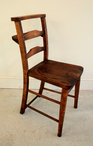 Antique elm church chairs circa 1800 - TheRetroStation  - 1