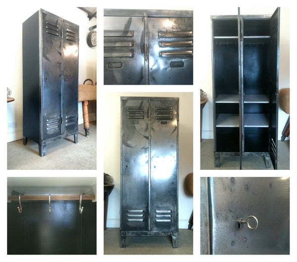 Vintage Industrial 2 Door Locker - TheRetroStation  - 4