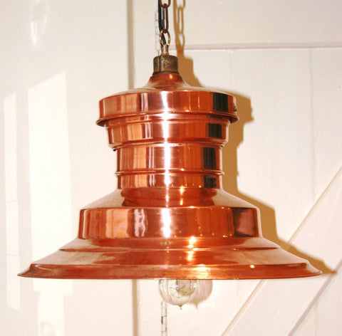 Vintage Industrial Copper Station Lights x2 available - TheRetroStation  - 1