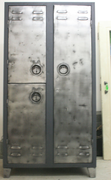 Vintage Industrial 2 Door Locker - TheRetroStation  - 3
