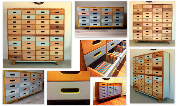 Beautifully hand crafted 20 drawer, Beech sideboard; gorgeous storage solution - TheRetroStation  - 5