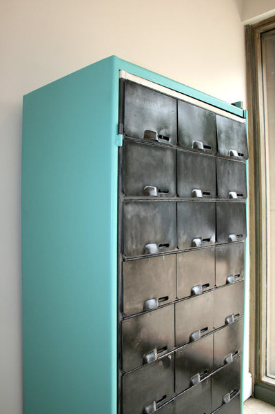 1950's pigeon holes, redesigned as shoe storage or Wine/ cup rack
