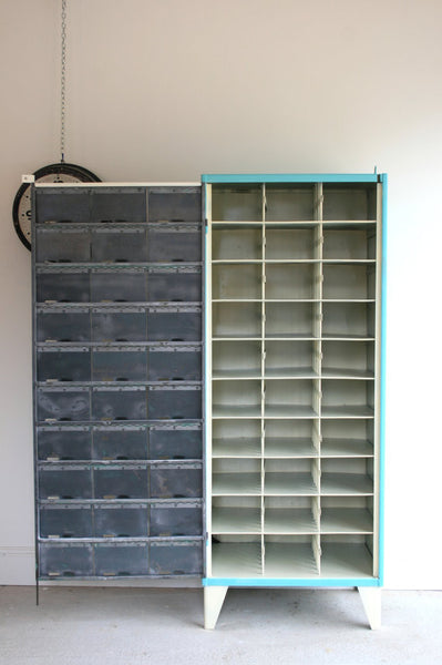 1950's pigeon holes, redesigned as shoe storage or Wine/ cup rack - TheRetroStation  - 3