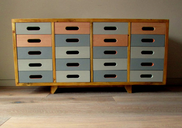Beautifully hand crafted 20 drawer, Beech sideboard; gorgeous storage solution - TheRetroStation  - 1