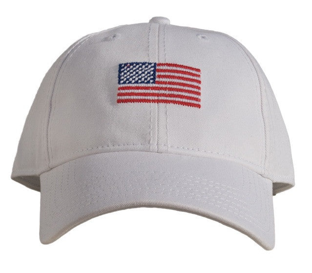 American Flag Hat in White by Harding Lane ... 779557ff32