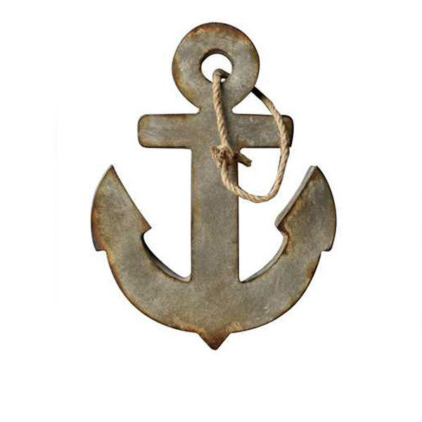 Anchor Wall Plaque in Aged Zinc