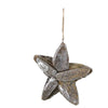 Driftwood Star Ornament in Silver