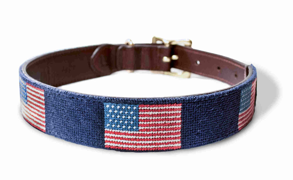 American Flag Dog Collar by Harding Lane