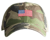 Harding Lane American Flag on Camo Baseball Hat