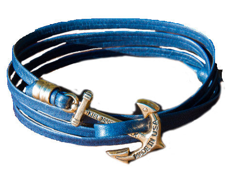 Kiel James Patrick Wavy In Navy Bracelet