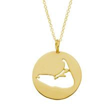 Nantucket Cutout Charm Necklace in Gold