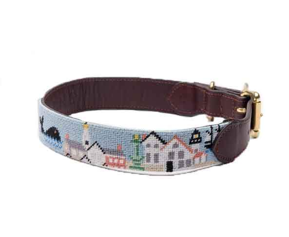 Old Nantucket Harbor Dog Collar by Harding Lane