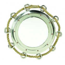 Port Hole Mirror with beautiful rope accent