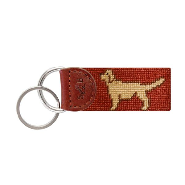 Smathers & Branson Retriever Needlepoint Key Fob