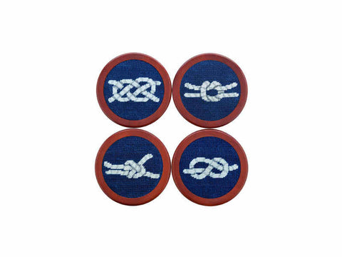Smathers & Branson Ski Tricks Needlepoint Coasters