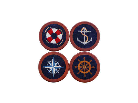 Smathers & Branson Nautical Knots Needlepoint Coasters