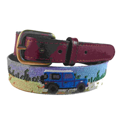 Smathers & Branson Dancing Bears (Oatmeal) Needlepoint Belt