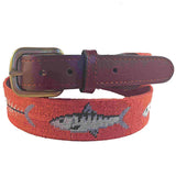 Smathers & Branson Bonefish Needlepoint Belt