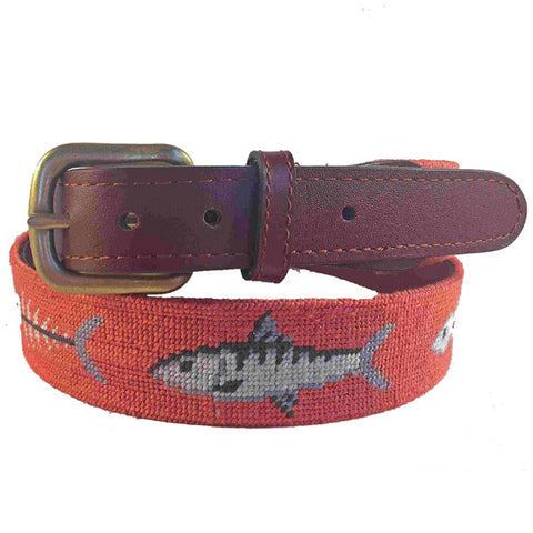 Smathers & Branson Dancing Bears Needlepoint Belt