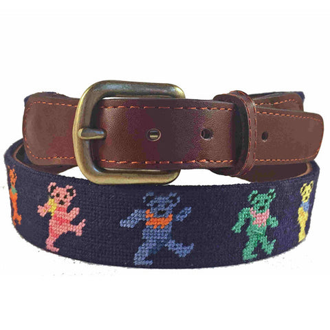 Smathers & Branson Steal Your Face (Black) Needlepoint Belt