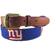 Smathers & Branson New York Giants Needlepoint Belt