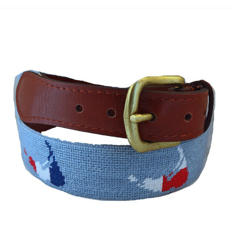 Campbell Ribbon Belt Green | York River Traders