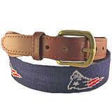 Smathers & Branson New England Patriots Needlepoint Belt