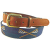Smathers & Branson Old School Lacrosse Needlepoint Belt